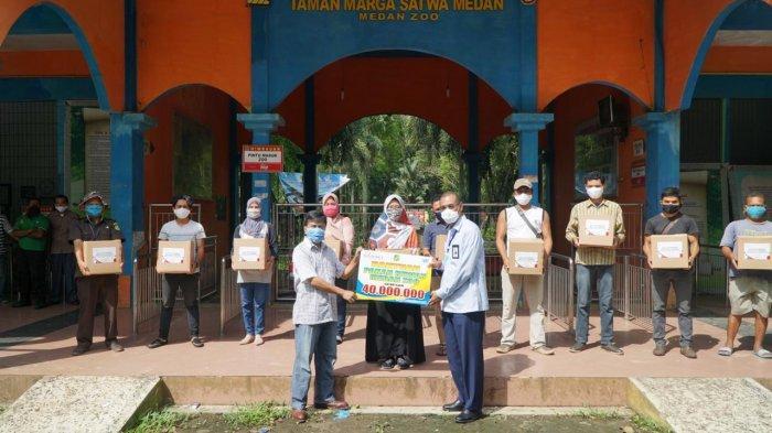 Bank Sumut Berikan Bantuan Pangan untuk Satwa di Medan Zoo