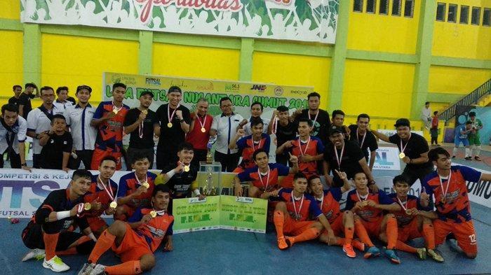 Kalahkan ISORI, Tim Futsal Bank Sumut Jawara Liga Futsal Nusantara Regional Sumatera Utara 2019