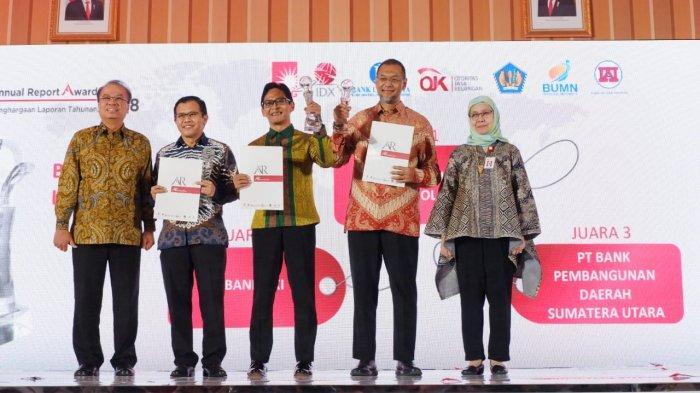 Bank Sumut Raih Anugerah Laporan Tahunan Terbaik Tahun Buku 2018