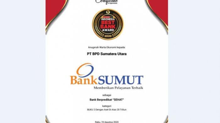 Bank Sumut Raih Best Bank Awards 2020