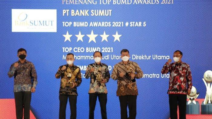Bank Sumut Raih Bintang 5 Top BUMD di Ajang Penghargaan Majalah TOP Bussines