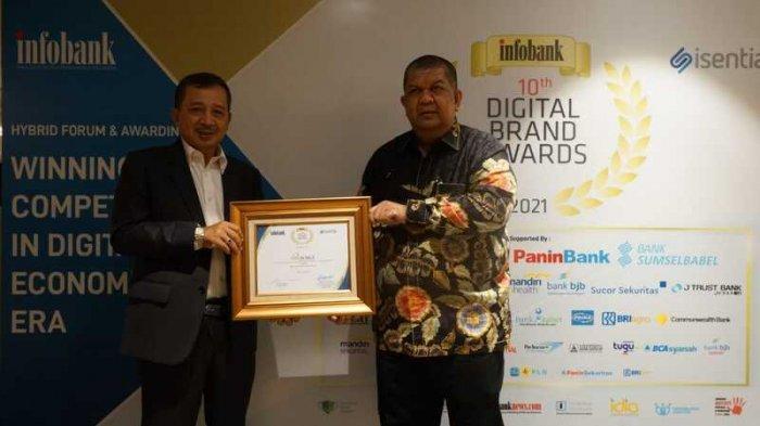 Bank Sumut Peringkat Pertama Infobank Digital Brand Award 2021