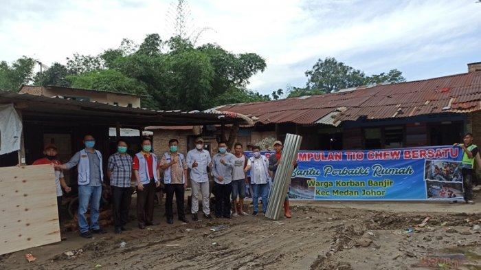 Perkumpulan Tio Chew Bersatu Medan Bantu Perbaikan Rumah Korban Banjir Medan Johor