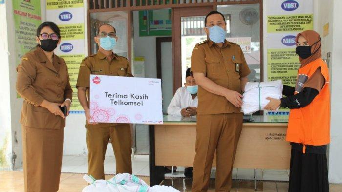 Telkomsel Donasikan APD di Wilayah Sumut dan Aceh