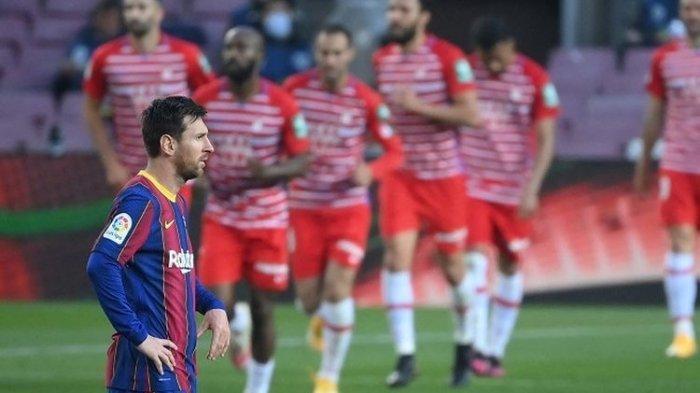 UPDATE Hasil Liga Spanyol - Barcelona Kalah dan Gagal Ke Puncak, Gol Lionel Messi Sia-sia