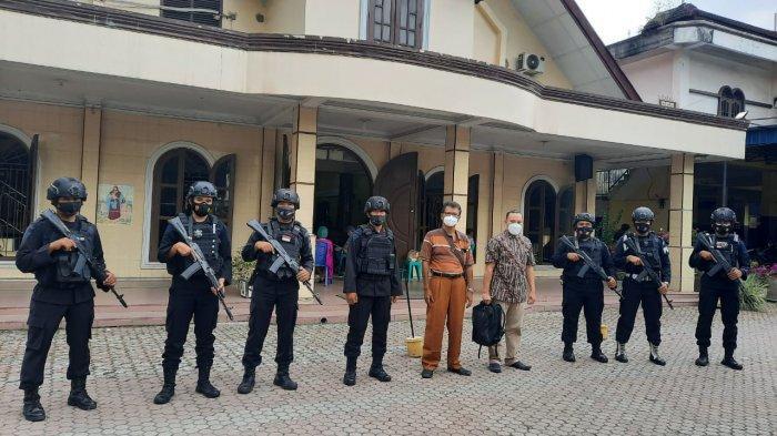 Pascabom Bunuh Diri di Makasar, Batalyon A Pelopor Brimob Sumut Jaga Pengamanan Gereja di Binjai