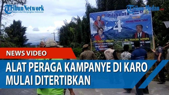 Satpol PP dan Bawaslu Karo Sisir APK Tak Sesuai Aturan di 17 Kecamatan