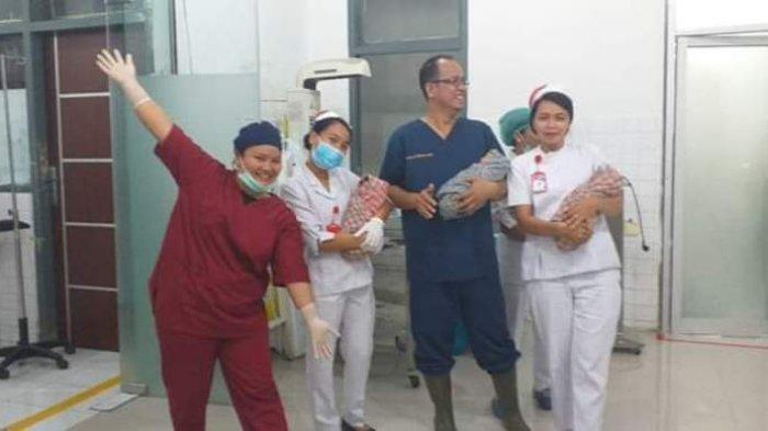 Bayi Kembar 3 Lahir di RSUD Tarutung, saat USG Terdeteksi Hanya 2 Janin