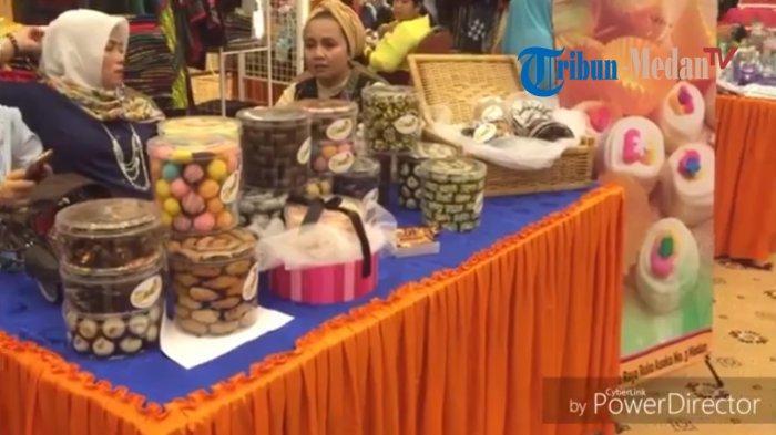 Bazar Ramadhan di Bank Sumut Jual Berbagai Pakaian Muslim hingga Makanan Berbuka, TONTON VIDEO. .