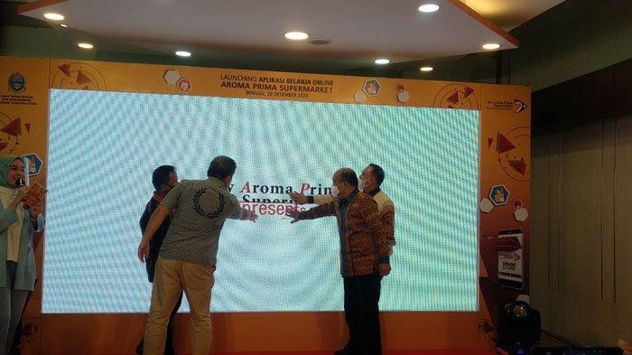 Luncurkan Aplikasi Online, Aroma Prima Supermarket Gandeng UMKM Tumbuh Bersama