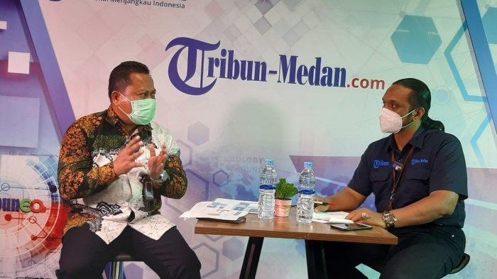 M. Ali Hapsah, SS, MA, PhD, Kepala BBPLK Medan di Studio Tribun Medan, Jumat (9/4/2021).
