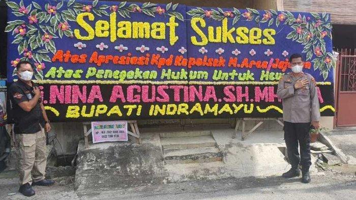 Kasus Jagal Kucing, Bupati Indramayu Kirim Papan Bunga ke Polsek Medan Area