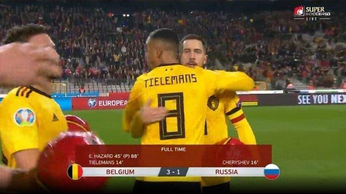 JADWAL SIARAN LANGSUNG Belgia vs Rusia Malam Ini, Romelu Lukaku tak Ambil Pusing Rekan Cidera  Live