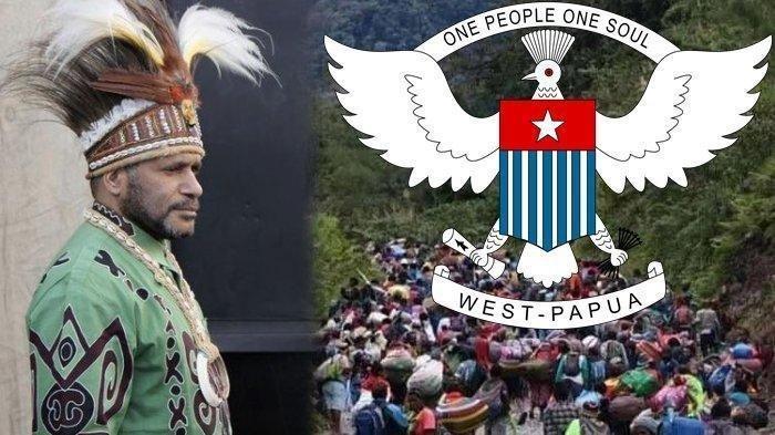 Benny Wenda Beri Peringatan Keras dan Seru Dunia, Sebut Operasi Militer Besar-besaran di Papua Barat. Foto: Ketua ULMWP Benny Wenda dan Warga yang mengungsi dari desa serta logo ULMWP.