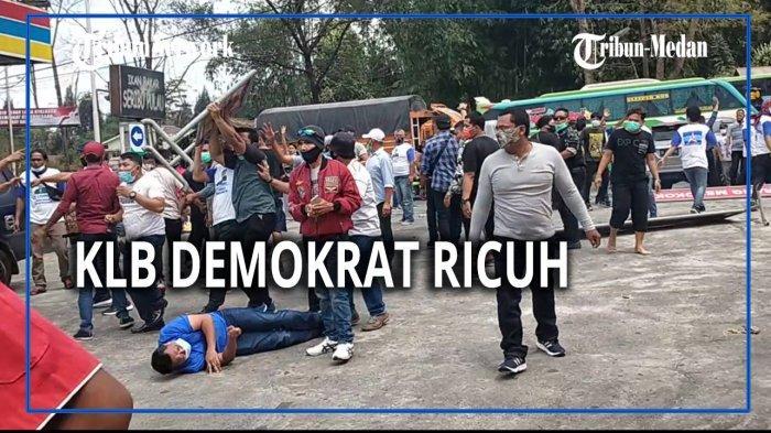 Video Bentrokan Acara KLB Demokrat Beredar, Polda Sumut Cuma Bilang Salah Paham dan Tidak Ada Korban