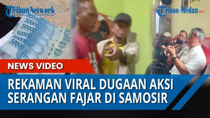 Beredar video yang diduga bagian dari money politik di Pilkada Samosir, Rabu (16/12/2020)