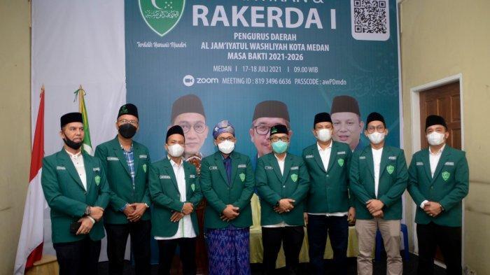 Kegiatan pelantikan PD Al Washliyah Kota Medan, Sabtu, (17/7) di Kantor PD Al Washliyah Kota Medan Komplek Tasbi II Medan.