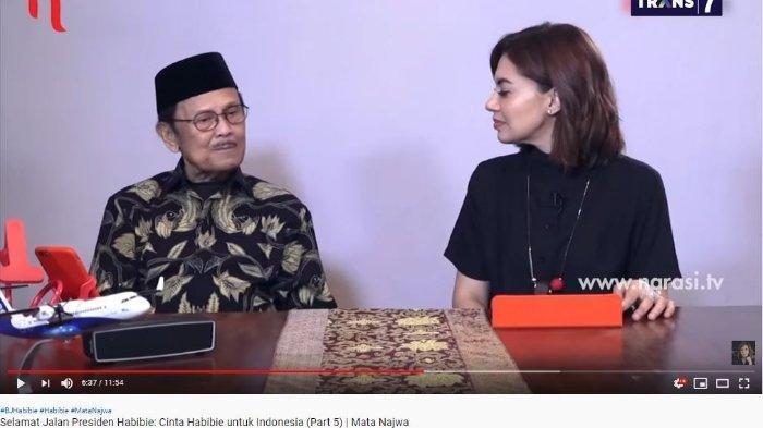 Wawancara BJ Habibie dengan Najwa Shihab di 'Mata Najwa' di tahun 2018 yang ditayangkan kembali di kanal YouTube Najwa Shihab, Kamis (12/9/2019). (YouTube Najwa Shihab)