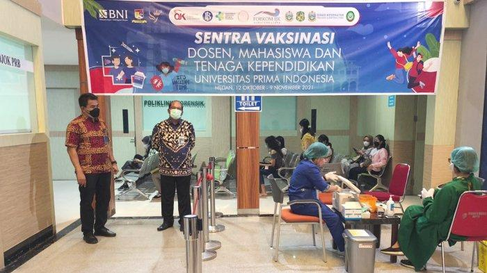 BNI Cabang Medan Bersama OJK Kembali Gelar Vaksinasi Massal di Rumah Sakit Royal Prima Medan