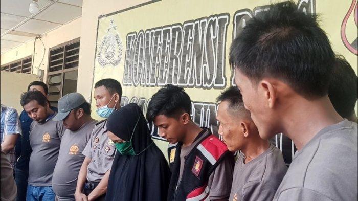 PARA tersangka yang mengaku anggota BNN gadungan ditangkap petugas Polsek Sunggal, Kamis (10/9/2020)