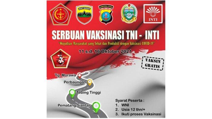 Serbuan Vaksinasi TNI Bersama INTI untuk 10.000 Orang di 4 Kota