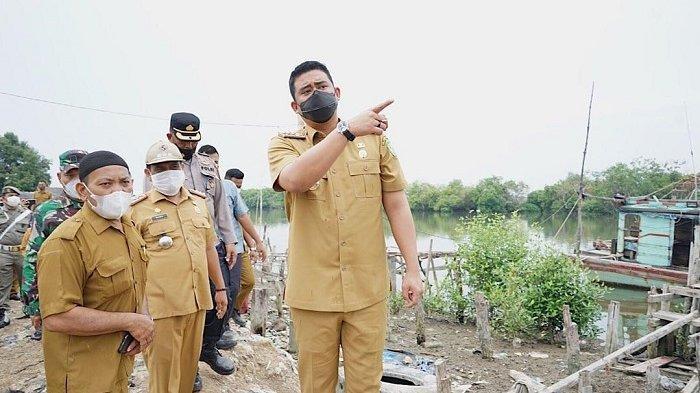 Serap Keluhan Warga Kampung Nelayan, Bobby Instruksikan Bangun Tanggul untuk Cegah Banjir Rob