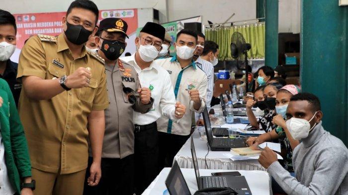Tinjau Vaksinasi di UMN, Bobby Nasution: Capaian Target Vaksinasi di Medan Lebih 35 Persen