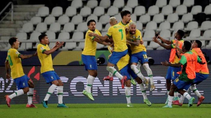 HASIL Copa America 2021 - Brasil Menang Dramatis Comeback Menit Akhir, Gol Firmino Kontroversial
