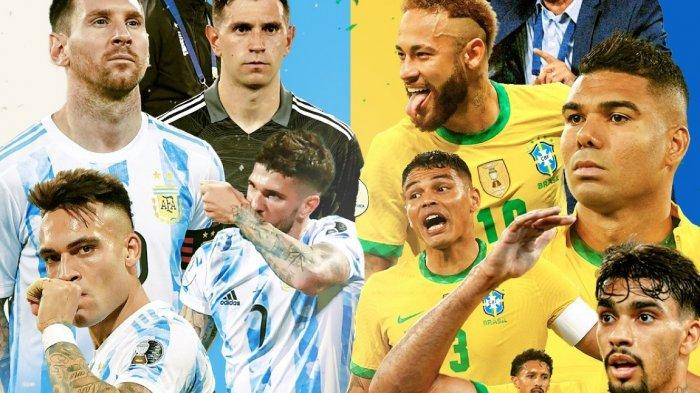 LINK Live Streaming Argentina vs Brasil Final Copa America 2021 Kick-off Pukul 07.00 WIB