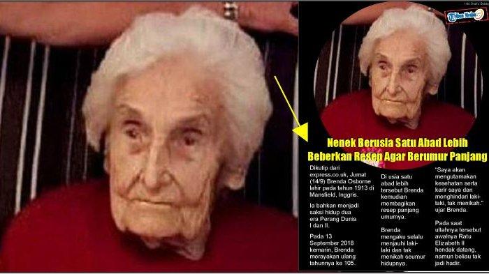 Nenek Berusia Satu Abad Lebih Beberkan Resep Agar Berumur Panjang