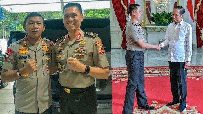 Brigjen Pol Dadang Hartanto dan Kapolri Idham Azis (kiri) dan Presiden Jokowi (kanan) (ISTIMEWA)