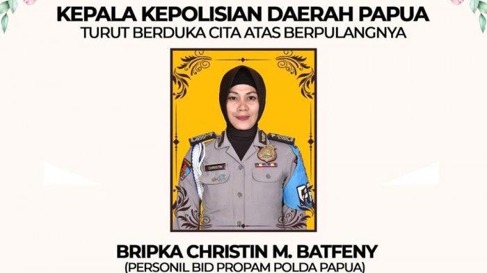 Ucapan duka Polda Papua atas meninggalnya Bripka Christin Meisye Batfeny