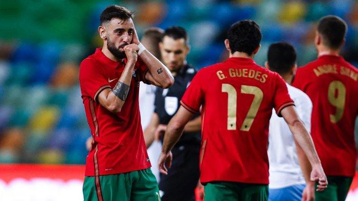 HASIL Uji Coba EURO 2020 - Portugal Bantai Israel, Bruno Fernandes Tokcer, Ronaldo Cetak Gol