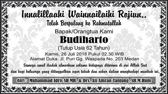 BERITA DUKACITA: Telah Berpulang ke Rahmatullah Budiharto