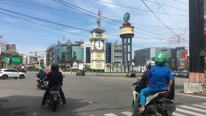 Kondisi Jalan di Kota Medan Sepi Menjelang Lebaran Idul Fitri 1440 Hijriyah