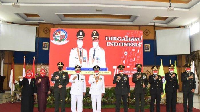Bupati Deli Serdang Ikuti Secara Virtual Upacara HUT RI Ke 76 di Istana Negara