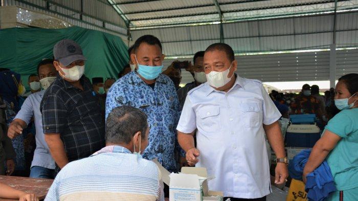 Bupati Langkat Turun Langsung Cek Vaksinasi Covid-19 di Kecamatan Sei Bingai