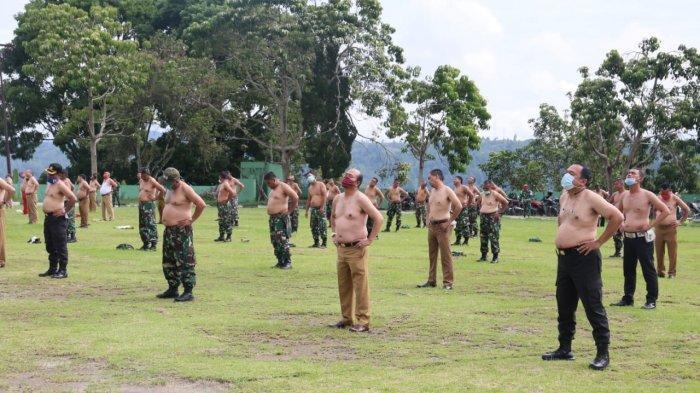 Bupati Tapanuli Utara Ajak TNI dan Polri Telanjang Dada di Lapangan Tangsi Tarutung