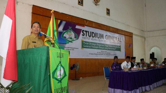 Bupati Tapsel, Syahrul M Pasaribu Dorong Peningkatan Status IAIN Padangsidimpuan Menjadi UIN