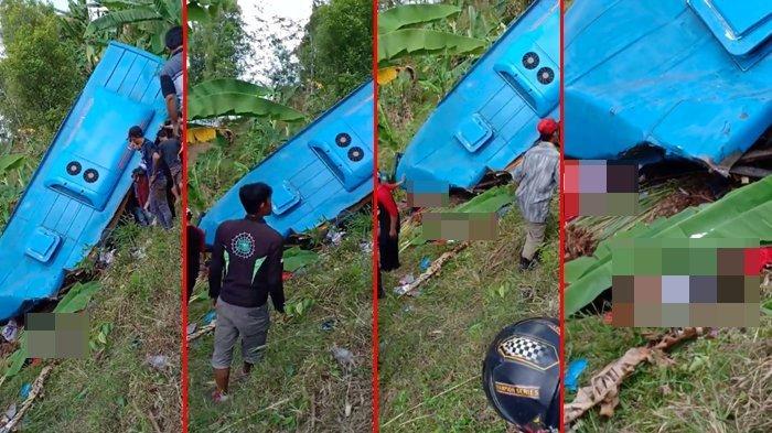 Detik-detik Bus Terjun Masuk Jurang di Sukabumi, Videonya Bikin Merinding, 21 Korban Meninggal