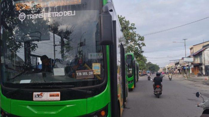 Identitas Pelaku Pelemparan Bus Trans Metro Deli di Jalan Yos Sudarso Terungkap