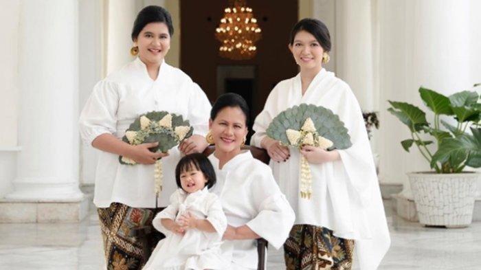 Cantiknya Iriana Jokowi, Kahiyang Ayu dan Selvi Ananda Pemotretan Bersama