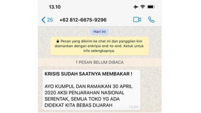 Bupati Taput Beberkan Isi Screenshoot WA Aktivis Ravio Patra, Kemudian Langsung Beritahu Kapolres