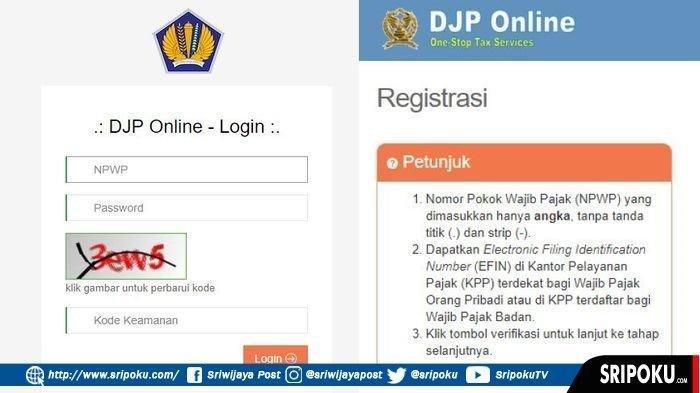 Cara Lapor Spt Tahunan Online Pengisian Wajib Pajak Pribadi Djp Online Cuma 10 Menit Halaman All Tribun Medan
