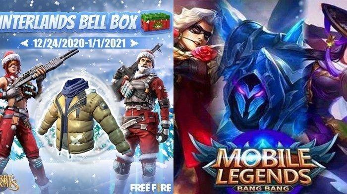UPDATE KODE Redeem Mobile Legends dan Free Fire Spesial Hari Natal dan Tahun Baru