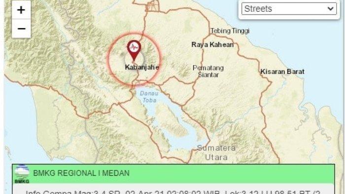 Karo Diguncang Gempa 3,4 SR Jumat Dini Hari