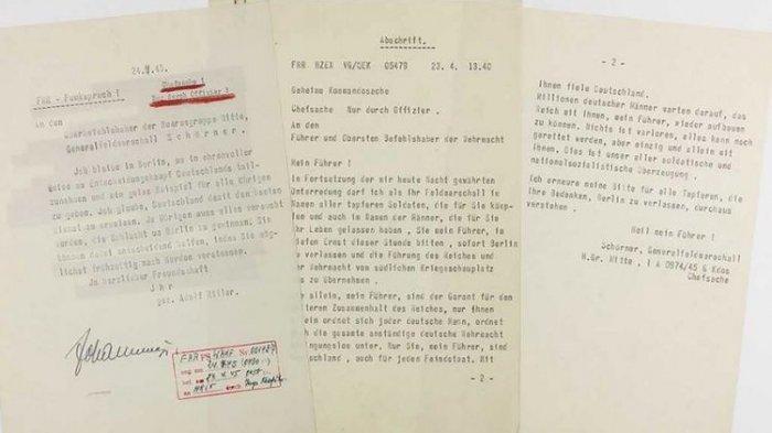 Ini Isi Surat Adolf Hitler yang Terdesak Kalah dalam Persembunyian, Bakal Dilelang Rp 424,4 Juta