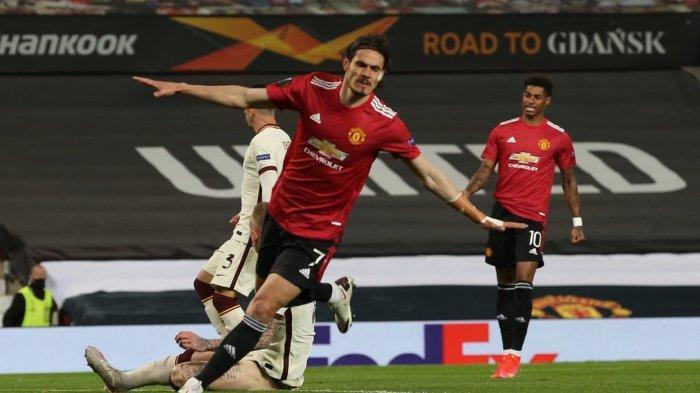 JADWAL Tayang Siaran AS Roma Vs Man United Liga Europa, Prediksi Line Up Edinson Cavani Absen