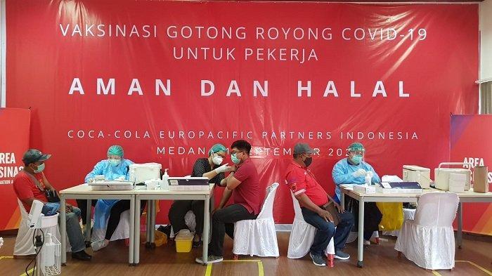Lagi, Coca-Cola Europacific Partners Indonesia Gelar Vaksin di Medan dan Rantau Parapat