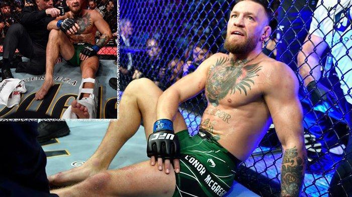 Petarung bebas Conor McGregor (Irlandia) kalah atas Dustin Poirier (Amerika Serikat) dalam UFC 264, pada Minggu (11/7/2021). McGregor mengalami patah engkel dan diprediksi bisa absen hingga satu tahun ke depan.